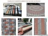 Блок машина для производства тротуарной плитки,бордюров R300 - фото 5
