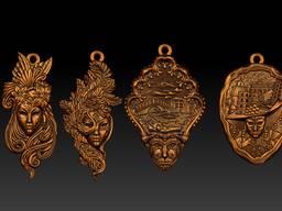 Bronze souvenirs. Statuettes, thimbles, trinkets, keychains. - фото 3