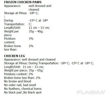 Chicken paws/legs