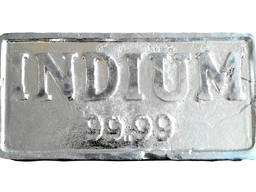 Indium in barren | Metall Indium Marke InOO GOST 10297-94