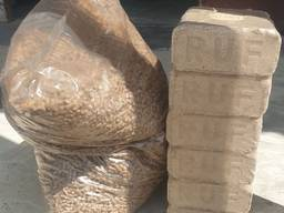 Wood pellets, briquettes (RUF) for heating