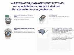 Patented wastewater treatment technology ( with certification from the european union).