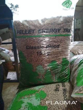 Pine pellet from manufacturer. UA