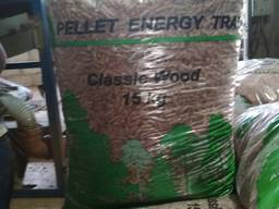 Pine pellet from manufacturer. UA