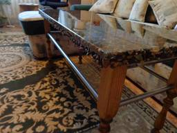 Tables and sinks made of resins, wood and stone - фото 5